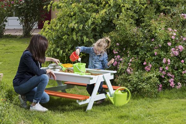 Trigano jardin quipement de jardin jeux de plein air - Table bac a sable bois ...